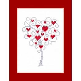 Vyšívací sada - Přání - Strom srdcí