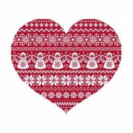Vyšívací sada - Skandinavské srdce