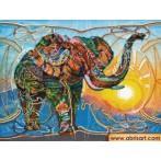 Vyšívací sada s korálký - Mozaika slon
