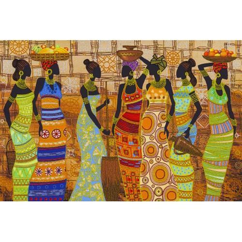 NDK 1038 Vyšívací sada s korálký - Africké krásné ženy