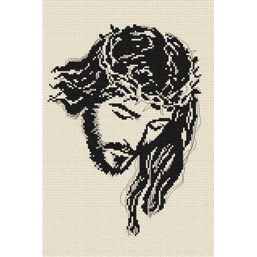 ZK 4000 Vyšívací sada s korálký - Ježíš