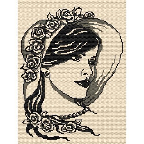 ZK 4862 Vyšívací sada s korálký - Žena s perlami