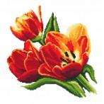ZK 8275 Vyšívací sada s korálký - Ůžasné tulipány