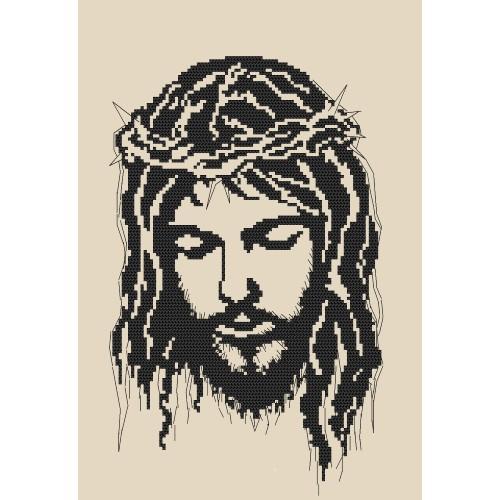 ZK 8400 Vyšívací sada s korálký - Ježíš v trnové koruně