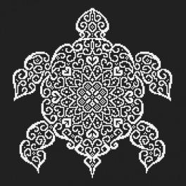 Zestaw z koralikami - Koronkowy żółw