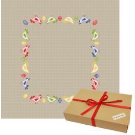 Zestaw prezentowy - Serwetka z kurkami