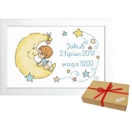 ZP 10071 Dárkova sada - Výšivka k narození chlapečka