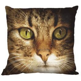 Zestaw z muliną i poszewką - Poduszka – Kot Lucky