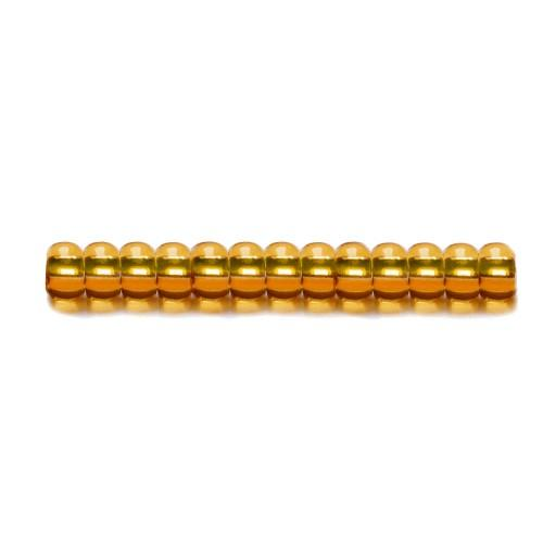 P 17050S-6 Korálky Preciosa Rokajl s metalizovaným průtahem (4,2mm)