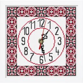 ZGR 8857 Vyšívací sada s mulinkou, hodinami a rámečkem - Hodiny v etnickém stylu II