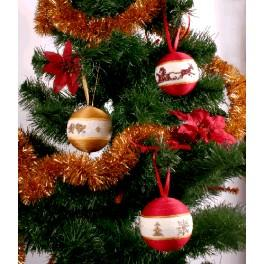 Z 4642-01 Vyšívací sada - Vánoční ozdoby (červená-zlatá)