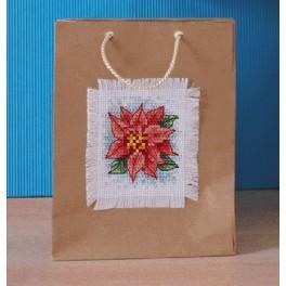 Vyšívací sada - Dárková taška s vánočním motivem - Vánoční hvězda