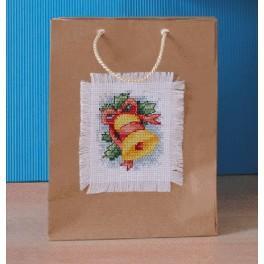Vyšívací sada - Dárková taška s vánočním motivem - Zvonek