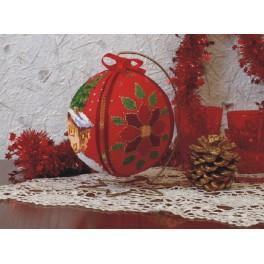 Vyšívací sada - Vánoční koule - Zimní večer
