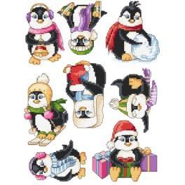 Vyšívací sada - Veselí tučňáci