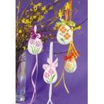 Vyšívací sada - Květinové kraslice - Maceška a narcis