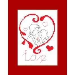Vyšívací sada - Valentýnské přání