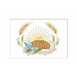 Vyšívací sada - Přijímání Karta - Chléb a hostie