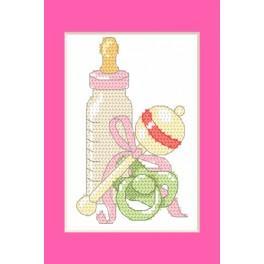 ZU 8615-01 Vyšívací sada - Narozeninová přání - Narození dcery