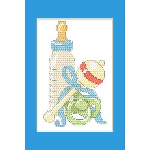 ZU 8615-02 Vyšívací sada - Narozeninová přání - Narození syna