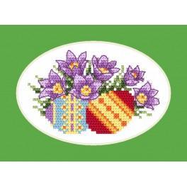 Vyšívací sada - Velikonoční přání - Koniklec