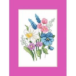 Vyšívací sada - Velikonoční přání - Jarní kytice