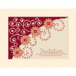 Vyšívací sada - Přání - Pozvánka - Květiny
