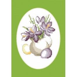 Vyšívací sada - Velikonoční přání - Přání