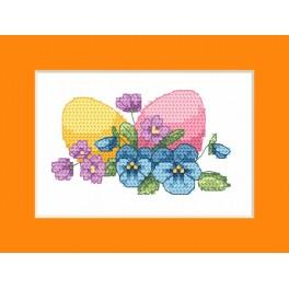 Vyšívací sada - Velikonoční přání - Velikonoční vejce