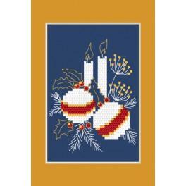 ZI 4949-01 Zestaw z muliną, koralikami i kartką – Kartka świąteczna