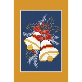 ZI 4949-02 Zestaw z muliną, koralikami i kartką – Kartka świąteczna