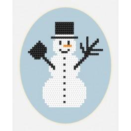 Vyšívací sada - Přání - Sněhuláček