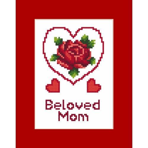 ZU 8473 Vyšívací sada - Přání - Den matek