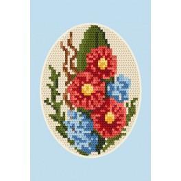 Vyšívací sada - Pohlednice - Květiny