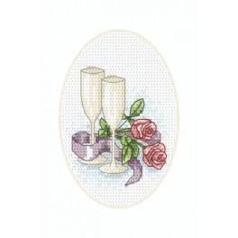 Vyšívací sada - Svatební přání - Kališký