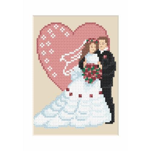ZU 4906 Vyšívací sada - Svatební přání - Novomanželé