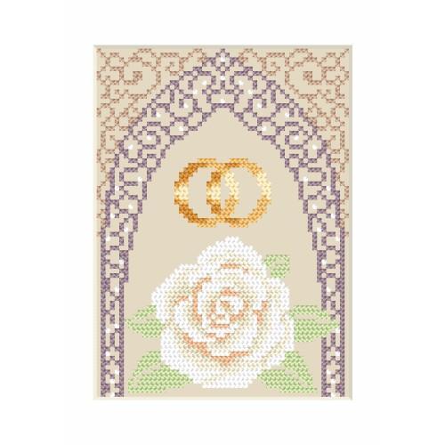 ZU 4905-02 Vyšívací sada - Svatební přání - Zlaté prstýnky