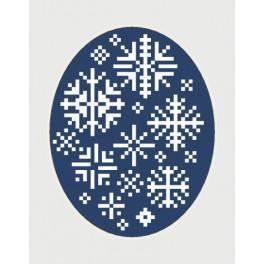 Vyšívací sada - Vánoční přání - Sněhové vločky
