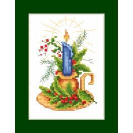 Vyšívací sada - Vánoční přání - Vánoční svícen