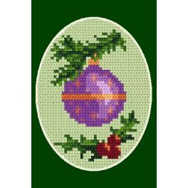 Vyšívací sada - Vánoční přání - Vánoční koule