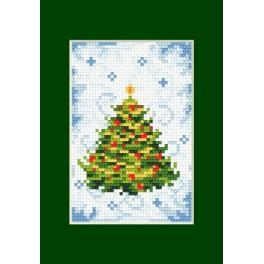 Vyšívací sada - Vánoční přání - Vánoční stromeček