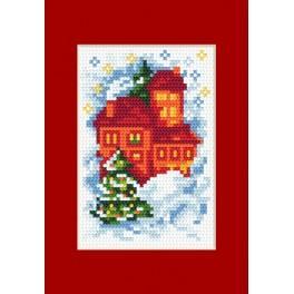 Vyšívací sada - Vánoční přání - Domů