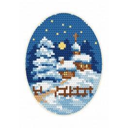 Vyšívací sada - Vánoční přání - Kostelíček