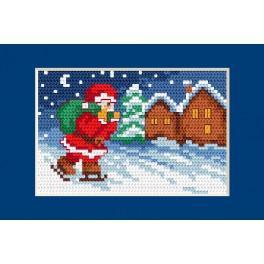 Vyšívací sada - Vánoční přání - Mikuláš
