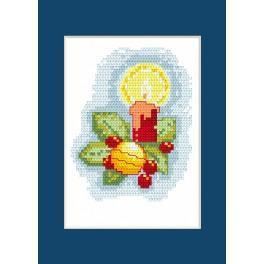 Vyšívací sada - Vánoční přání - Svíčka