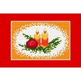 Vyšívací sada - Vánoční přání - Svíčky