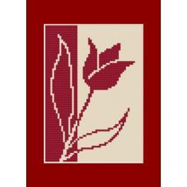 Vyšívací sada - Narozeninová přání - Tulipán