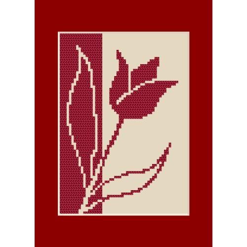 ZU 8422 Vyšívací sada - Narozeninová přání - Tulipán