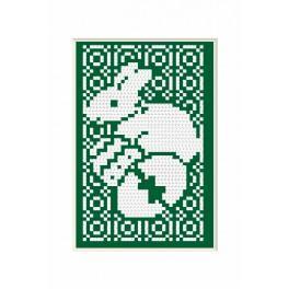 Vyšívací sada - Velikonoční přání - Zajíček