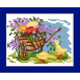 ZU 4596-04 Vyšívací sada - Velikonoční přání - Kraslice